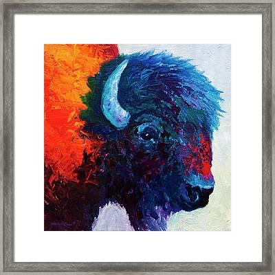 Bison Head Color Study I Framed Print