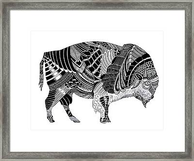 Bison Framed Print by JF Mondello