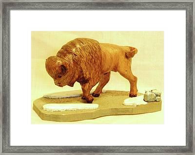 Bison  Framed Print by Russell Ellingsworth