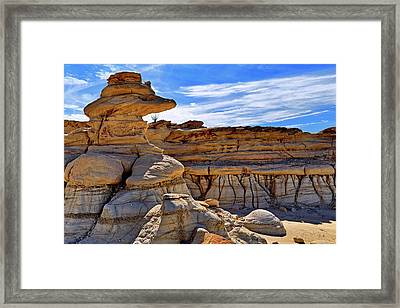 Framed Print featuring the photograph Bisti Badlands Formations - New Mexico - Landscape by Jason Politte