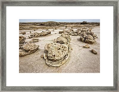 Bisti Egg Factory / De-na-zin Wilderness - Farmington New Mexico Framed Print by Brian Harig