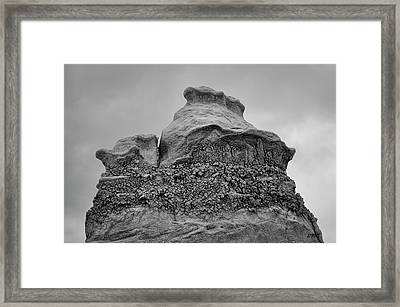 Framed Print featuring the photograph Bisti V Bw by David Gordon