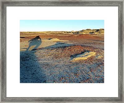 Bisti Wilderness Area At Sunset 03 Framed Print by Jeff Brunton