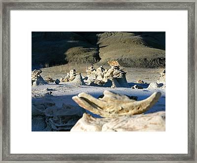 Bisti Wilderness Area At Sunup 36 Framed Print by Jeff Brunton