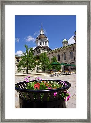 Bistro Flowers Framed Print