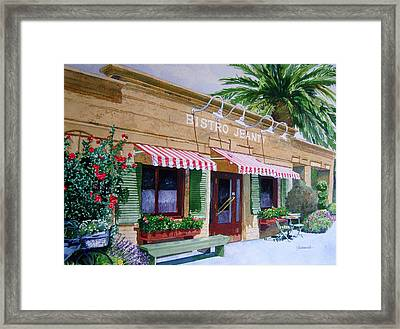Bistro Jeanty Napa Valley  Framed Print by Gail Chandler