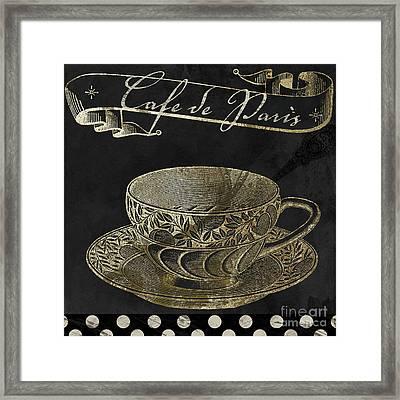 Bistro Parisienne Cafe De Paris Gold Framed Print by Mindy Sommers