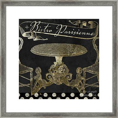 Bistro Parisienne Gold Framed Print by Mindy Sommers