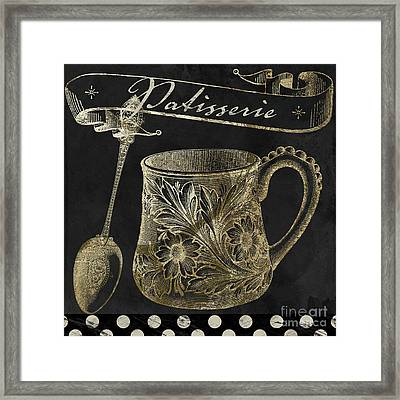 Bistro Parisienne Patisserie Gold Framed Print by Mindy Sommers