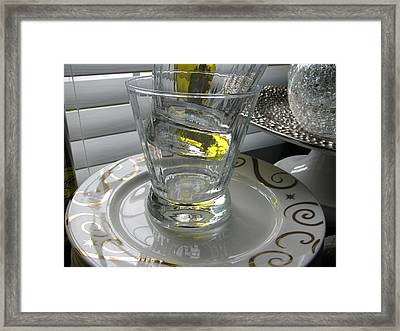 Framed Print featuring the photograph Bistro Plates And Glasses by Lindie Racz
