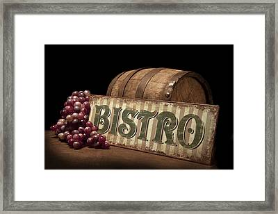 Bistro Still Life Iv Framed Print by Tom Mc Nemar