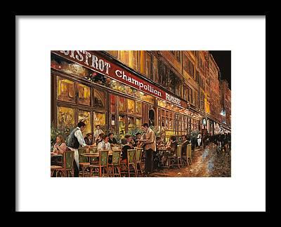 Bar Scene Framed Prints