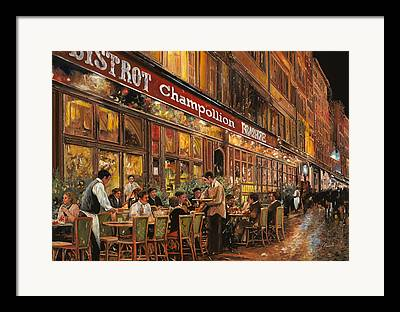 Night Cafe Framed Prints