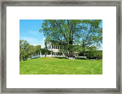 Framed Print featuring the photograph Bit O Nh History by Greg Fortier
