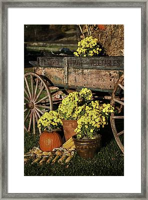 Bit Of Country - Vermont Style Framed Print by Thomas Schoeller