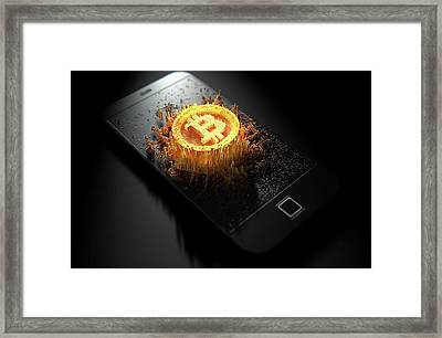 Bitcoin Cloner Smartphone Framed Print