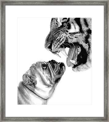 Bite Me Framed Print by Carole Raschella