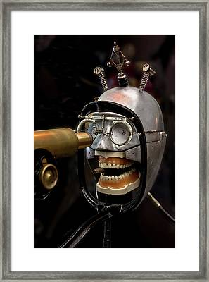 Bite The Bullet - Steampunk Framed Print
