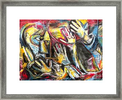 Bite The Hand That Feeds  Framed Print by Jon Baldwin  Art