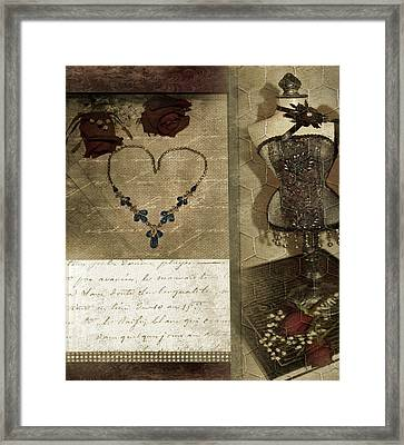 Bits And Pieces Of Love Framed Print by Rozalia Toth