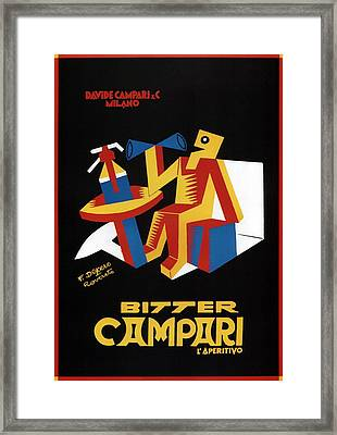 Bitter Campari - Aperitivo - Vintage Beer Advertising Poster Framed Print