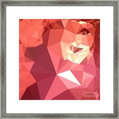Bittersweet Red Abstract Low Polygon Background Framed Print