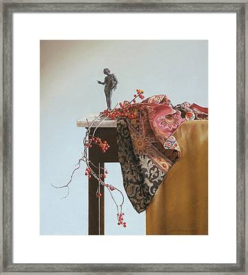 Bittersweet With Bronze Framed Print by Barbara Groff