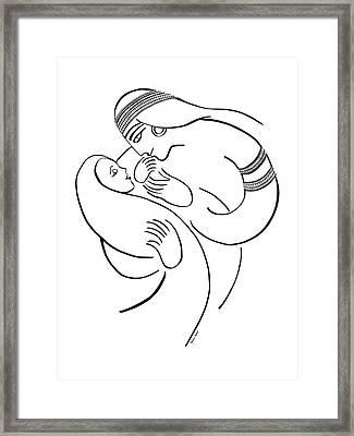 Bitya, Pharoah's Daughter Framed Print by Chana Helen Rosenberg