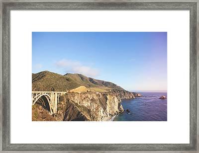 Bixby Bridge Big Sur 2 Framed Print by Ariane Moshayedi