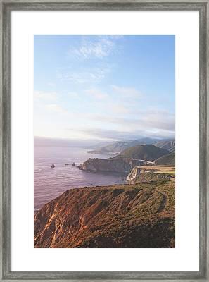 Bixby Bridge Big Sur Framed Print by Ariane Moshayedi