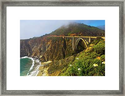 Bixby Bridge Big Sur Framed Print by Garry Gay