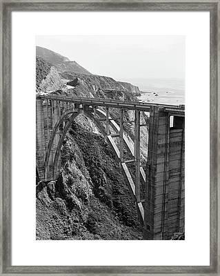 Bixby Bridge Black White Framed Print by Ariane Moshayedi