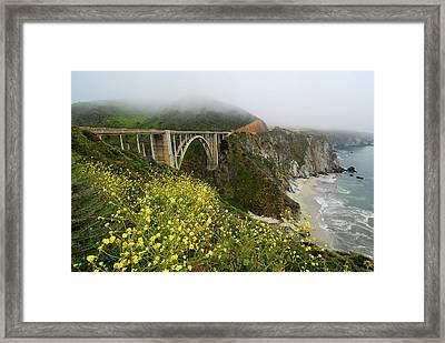 Bixby Bridge Framed Print by Harry Spitz