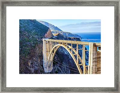 Bixby Bridge Framed Print by Joseph S Giacalone