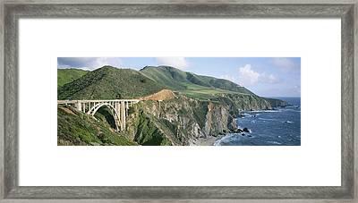 Bixby Bridge Over Bixby Creek Framed Print