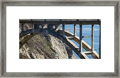 Bixby Bridge Truss Framed Print by Juan Romagosa