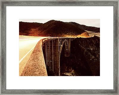 Bixby Creek Bridge, California Framed Print