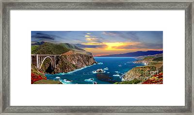 Framed Print featuring the photograph Bixby Creek Bridge by David Zanzinger