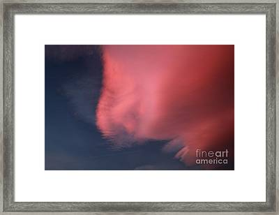 Bizarre Cloud Formation Framed Print by Deborah Benbrook