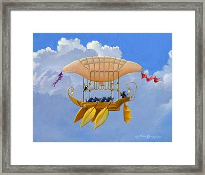 Bizarre Feline-powered Airship Framed Print