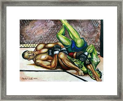 Bj Penn Vs. Jens Pulver Framed Print by Michael Cook