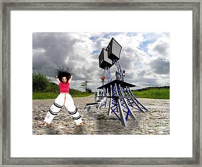 Bjork Happy Framed Print