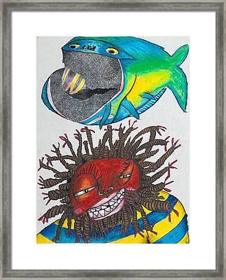 Bk-fish  Framed Print