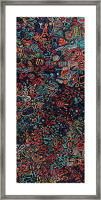 Black Ab Ex Framed Print by Sigalit Butterfly Benjamin