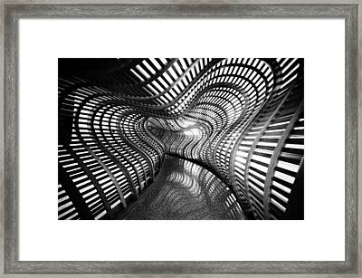 Black Abstract Hall Framed Print