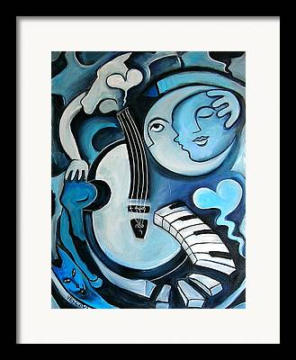 Man In The Moon Paintings Framed Prints