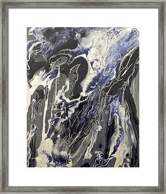 Black And Blue Framed Print