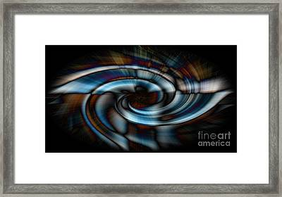 Black And Blue Framed Print