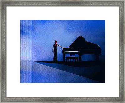 Black And Blues' Framed Print by John Wolfersberger