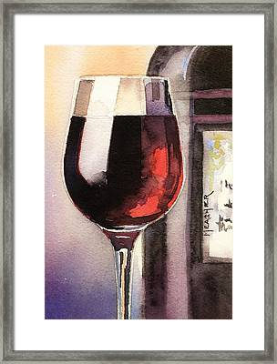 Black And Burgundy Framed Print